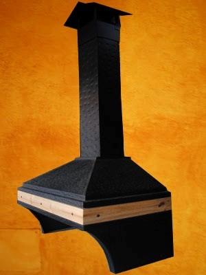 campana martillada negra madera ancha